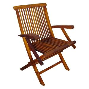 "Terrace Mates - 35.5"" Folding Arm Chair (Set of 2)"