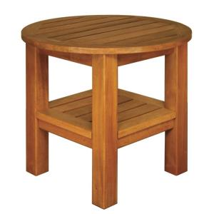"""Terrace Mates - 24"""" Two Shelf High End Round Table"""
