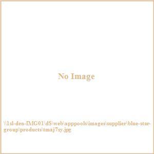 Terrace Mates Adena - 7.5'  Half-Canopy Umbrella with Half-Round Table Set