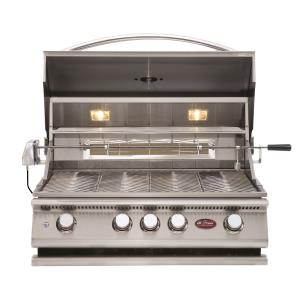 P Series - BBQ Built in Grills P 4 Burner w/ Rotisserie  and  back Burner-LP