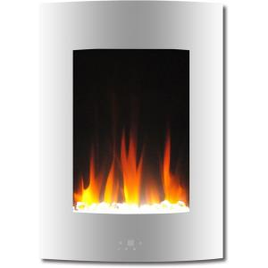 19.5 In. Vertical Electric Fireplace with Multi-Color Flame