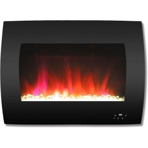 26 In. Curved Wall-Mount Electric Fireplace