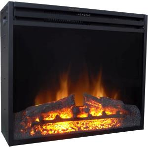 28-In. Freestanding 5116 BTU Electric Fireplace Heater Insert with Remote Control and 9-Hour Timer