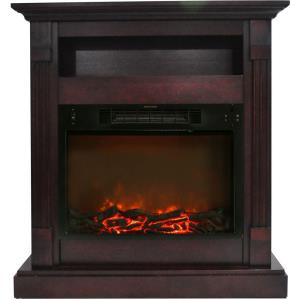 Sienna 34 In. Electric Fireplace and Mantel