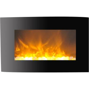 Callisto 35 In. Wall-Mount Electric Fireplace with Curved Panel