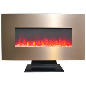 36 In. Metallic Electric Fireplace