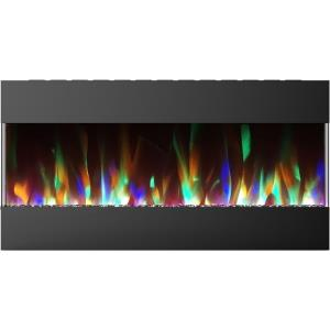 42 Inch Recessed Wall Mounted Electric Fireplace