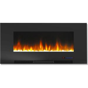42 In. Metallic Electric Fireplace