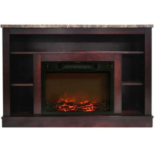 47 In. Electric Fireplace and Mantel