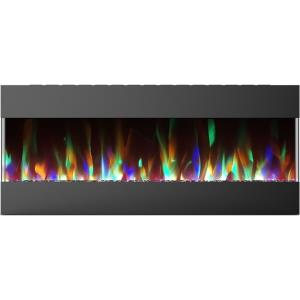 50 Inch Recessed Wall Mounted Electric Fireplace