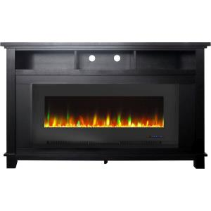 """San Jose Fireplace Entertainment Stand with 50"""" Color-Changing Fireplace Insert"""