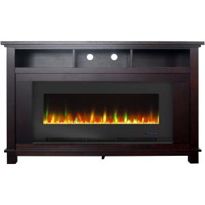 "San Jose Fireplace Entertainment Stand with 50"" Color-Changing Fireplace Insert"