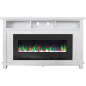 San Jose Fireplace Entertainment Stand with 50 Inch Color-Changing Fireplace Insert