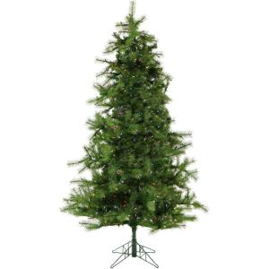Colorado Pine - 6.5' Artificial Christmas Tree with 500 Multi-Color LED String Lighting and Holiday Soundtrack