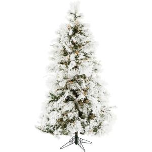 Frosted Fir - 6.5' Artificial Christmas Tree with 450 Clear LED String Lighting