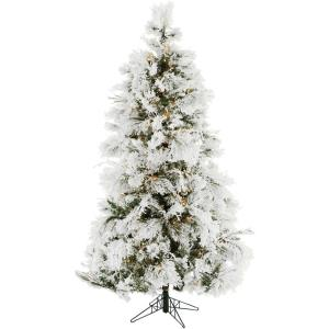 Frosted Fir - 6.5' Artificial Christmas Tree with 450 Clear Smart String Lighting
