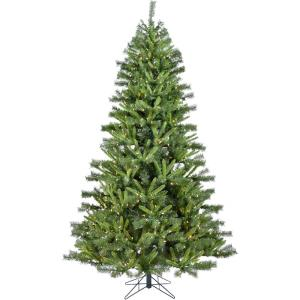 Norway Pine - 7.5' Artificial Christmas Tree with 600 Clear LED String Lighting