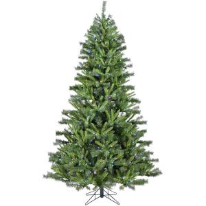 Norway Pine - 7.5' Artificial Christmas Tree with 600 Multi-Color LED String Lighting and Holiday Soundtrack