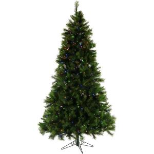 Pennsylvania Pine - 6.5' Artificial Christmas Tree with 400 Multi-Color LED String Lighting and Holiday Soundtrack