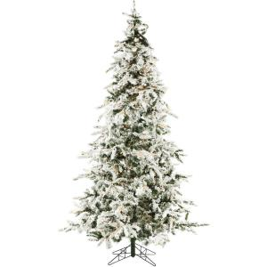 White Pine - 7.5' Artificial Christmas Tree with 550 Clear LED String Lighting