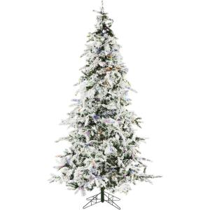White Pine - 7.5' Artificial Christmas Tree with 550 Multi-Color LED String Lighting and Holiday Soundtrack
