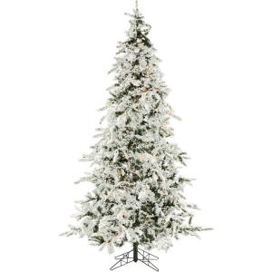 White Pine - 7.5' Artificial Christmas Tree with 550 Clear Smart String Lighting