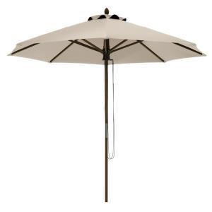 Montlake - 9' Fadesafe Round Bamboo Patio Umbrella