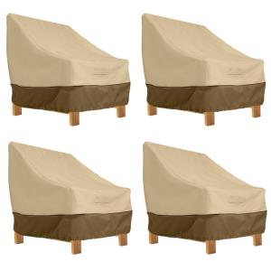 """Veranda - 38 x 42"""" Deep Seated Patio Lounge Chair Cover (Pack of 4)"""