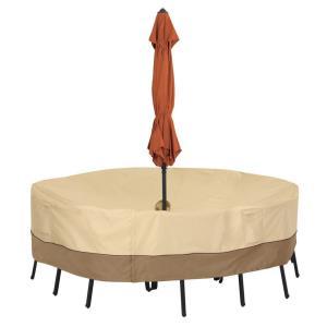Veranda - 72 Inch Medium Round Table Cover with Umbrella Hole