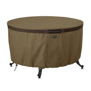 "Hickory - 42"" Round Fire Pit Table Cover"