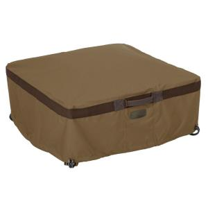 Hickory - 30 Inch Small Square Fire Pit Table Cover
