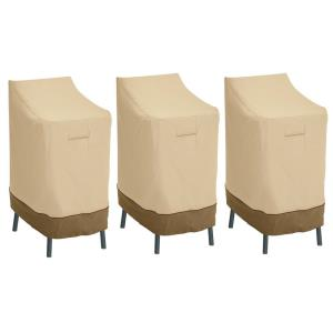 Veranda - 46 x 30 Inch Patio Bar Chair/Stool Cover (Pack of 3)