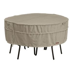 """Montlake - 94"""" Large Round Table and Chair Cover"""