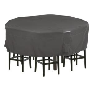 "Ravenna - 72 x 72"" Medium Tall Round Patio Table & Chair Set Cover"