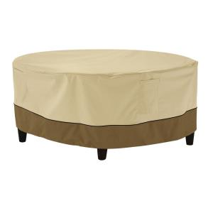 Veranda - 32 x 32 Inch Medium Round Patio Ottoman/Coffee Table Cover