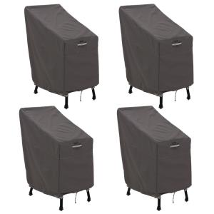 "Ravenna - 46 x 30"" Patio Bar Chair & Stool Cover (Pack of 4)"