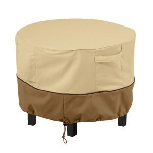 Veranda - 23 x 23 Inch X-Small Round Patio Ottoman/Coffee Table Cover