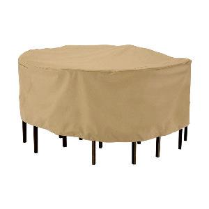 """Terrazzo - 94"""" Round Large Patio Table and Chair Set Cover"""