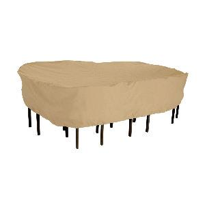 """Terrazzo - 106"""" Large Rectangular/Oval Patio Table and Chair Set Cover"""