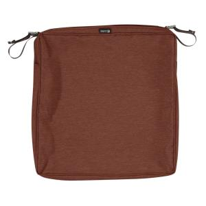 Montlake - 20 x 20 Inch FadeSafe Square Patio Dining Seat Cushion Slip Cover with 2 Inch Thick