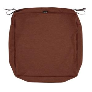 Montlake - 25 x 25 Inch FadeSafe Square Patio Lounge Seat Cushion Slip Cover with 5 Inch Thick