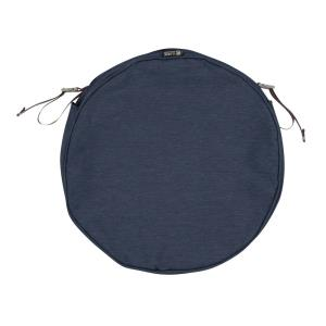 "Montlake - 18 x 18"" FadeSafe Round Patio Dining Seat Cushion Slip Cover with 2"" Thick"