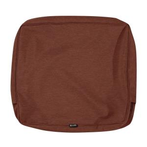 Montlake - 22 x 21 Inch FadeSafe Patio Lounge Back Cushion Slip Cover with 4 Inch Thick