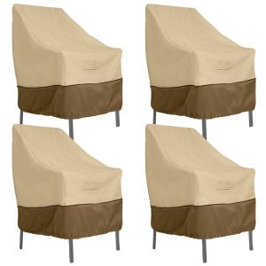 "Veranda - 28 x 35"" High Back Dining Patio Chair Cover (Pack of 4)"