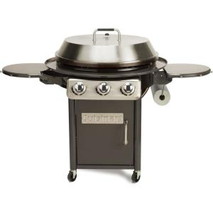 30 Inch Deluxe Outdoor Griddle Cooking Center with 2 Folding Prep Tables and 1 Paper Towel Holder