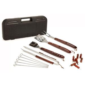 18-Piece Wooden Handle Grilling Set