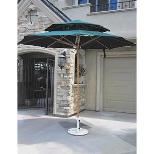 Kona - 9' x 7' Oval 2-Tier Market Umbrella