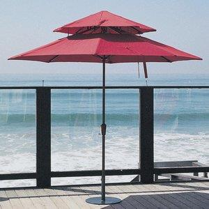 Monterey - 9' Octoganal 2-Tier Market Umbrella