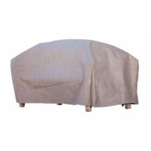 Ottoman / Side Table Cover  - Cappuccino Finish