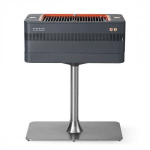"""Fusion - 42.63"""" Electric Ignition Charcoal Barbeque with Pedestal"""